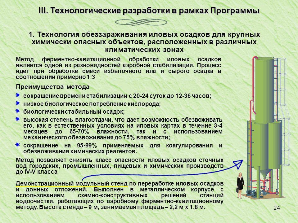 24 III.Технологические разработки в рамках Программы 1.