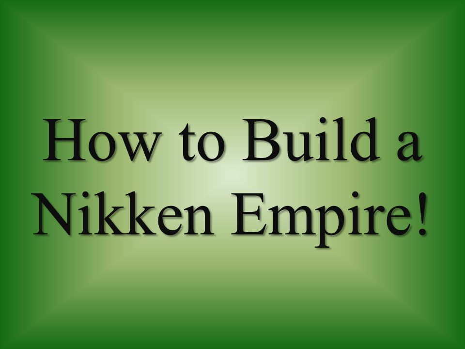 How to Build a Nikken Empire!