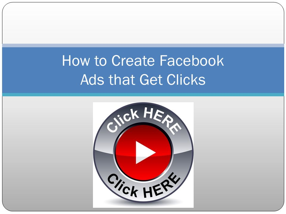 Elements of a Successful Facebook Ad 1.