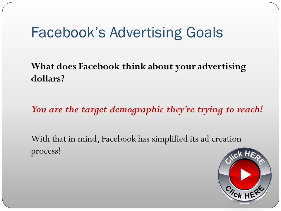 Elements of a Successful Facebook Ad 6.Be Discriminating Dont say This graphics will do...