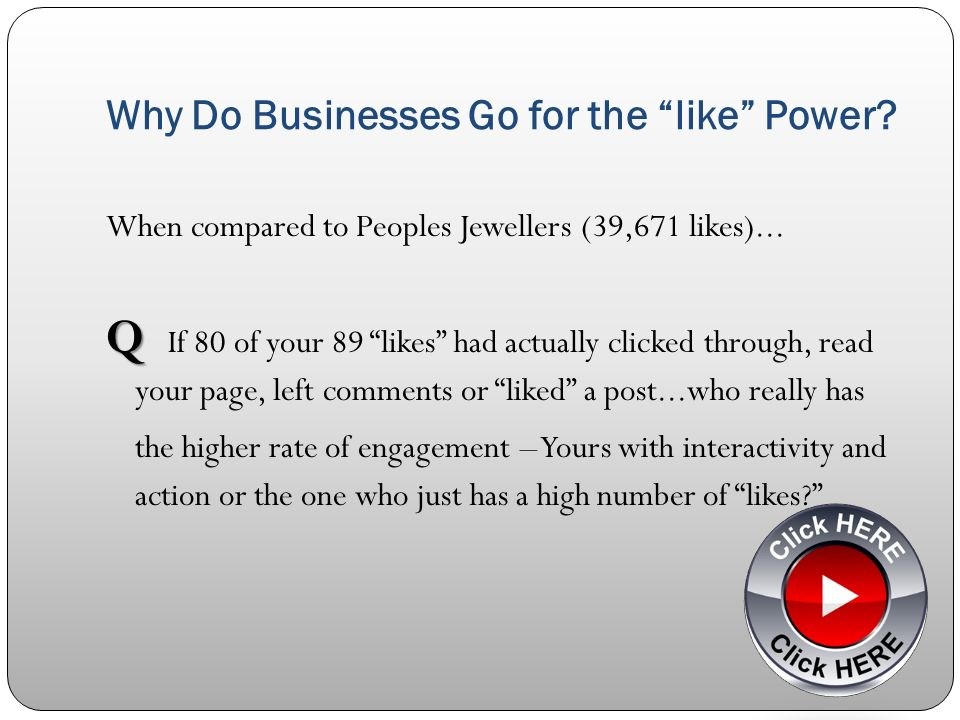 Why Do Businesses Go for the like Power. When compared to Peoples Jewellers (39,671 likes)...