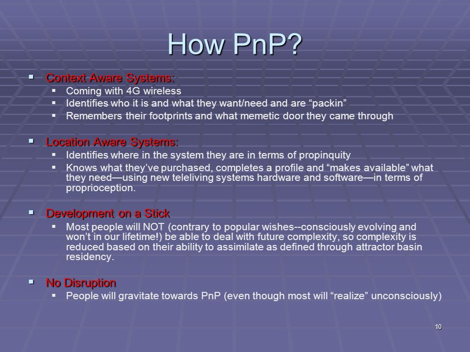 10 How PnP.
