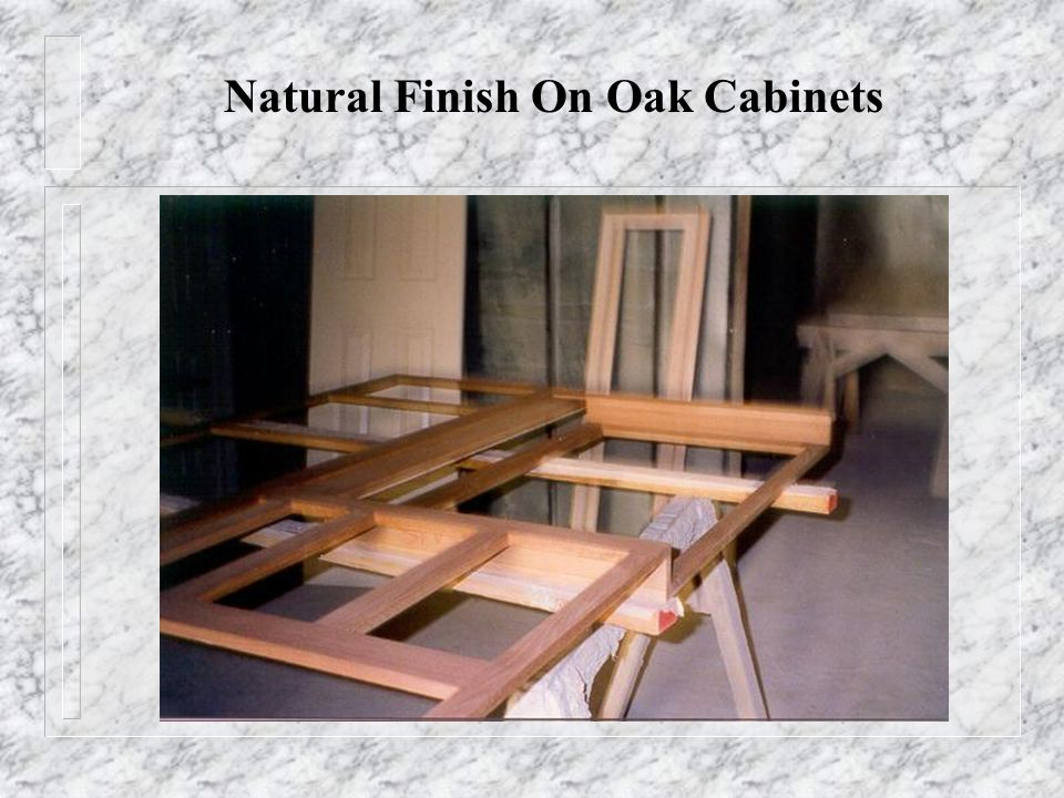 Natural Finish On Oak Cabinets