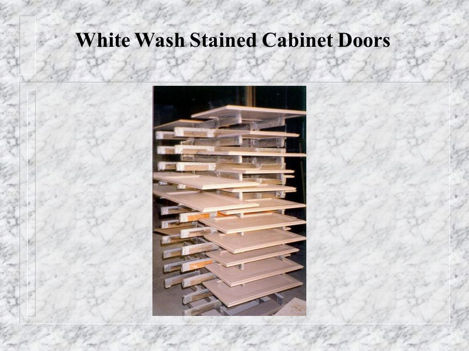 White Wash Stained Cabinet Doors