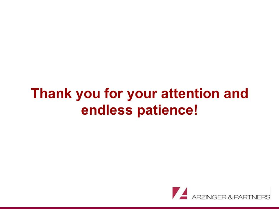 Thank you for your attention and endless patience!