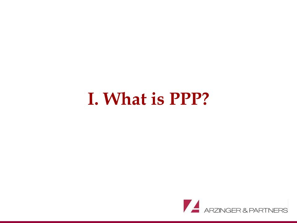I. What is PPP?