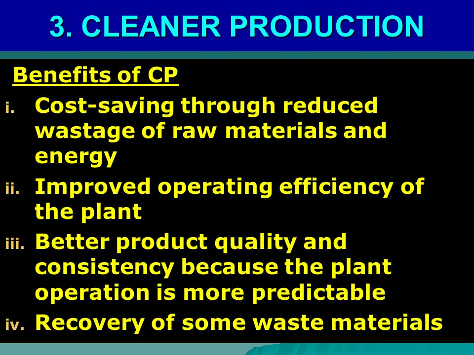 Benefits of CP Benefits of CP i.