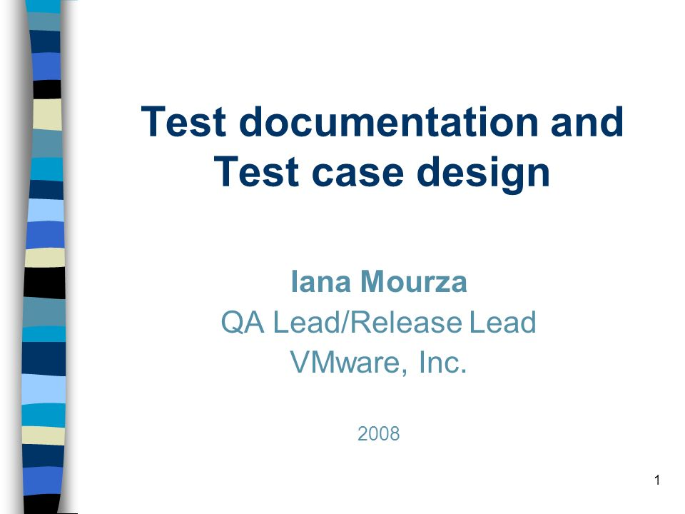 12 Test Case –What: a set of inputs, execution preconditions and expected outcomes developed for a particular objective, such as exercising a particular program path or verifying compliance with a specific requirement; –Who: QA; –When: (planning)/(design)/coding/testing stage(s); –Why: Plan test effort / resources / timelines; Plan / review test coverage; Track test execution progress; Track defects; Track software quality criteria / quality metrics; Unify Pass/Fail criteria across all testers; Planned/systematic testing vs Ad-Hoc.
