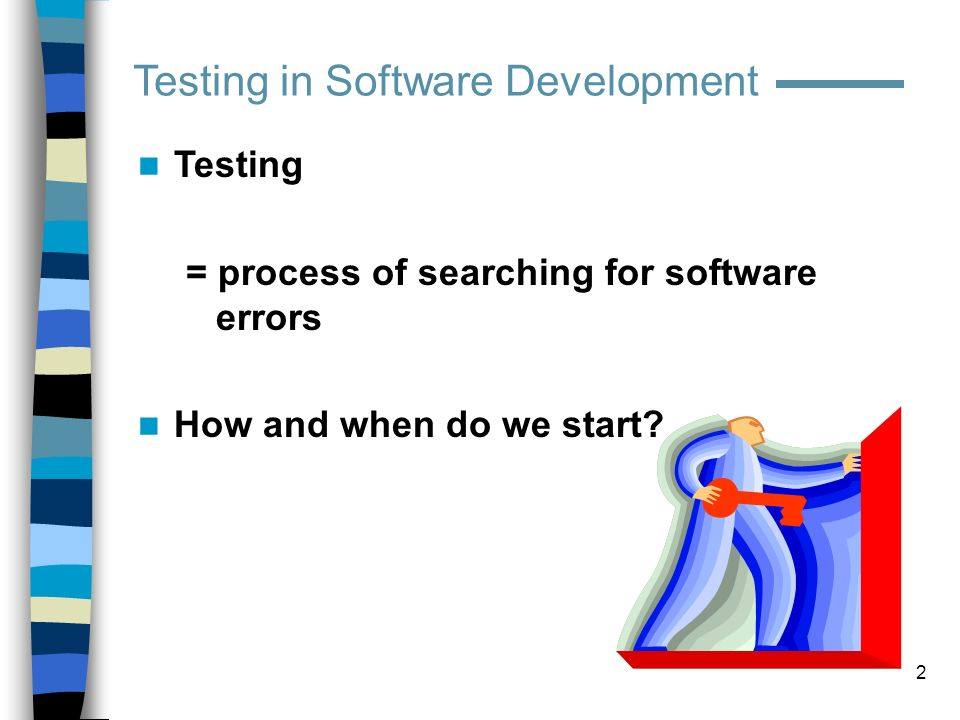 43 Test design Risk Analysis (scale 1-10): FeatureLikelihood of failure (Eng, QA, Tech Support) Impact of failure (PM, Tech Support, Sales, QA) Risk Factor 1.