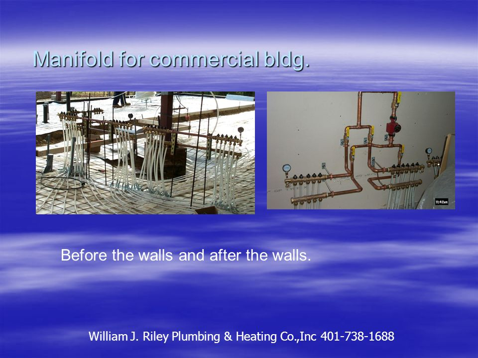 The cement pour, quick and messy. William J. Riley Plumbing & Heating Co.,Inc 401-738-1688