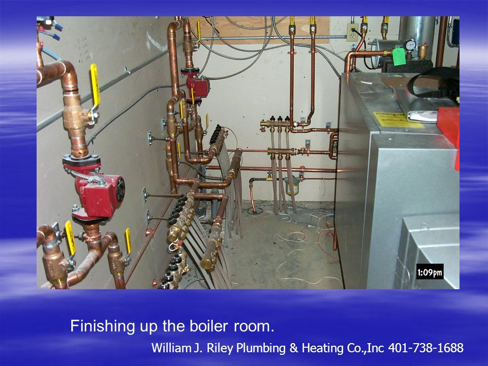 Manifold for commercial bldg. Before the walls and after the walls. William J. Riley Plumbing & Heating Co.,Inc 401-738-1688