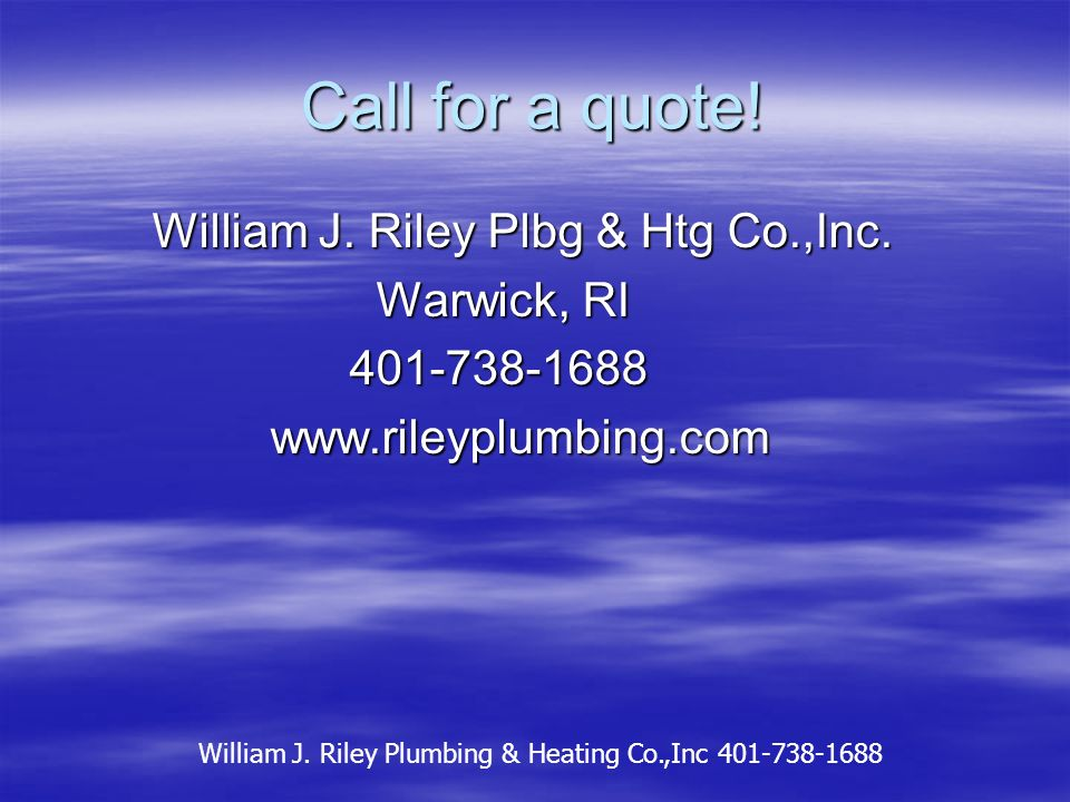 Finishing up the boiler room. William J. Riley Plumbing & Heating Co.,Inc 401-738-1688