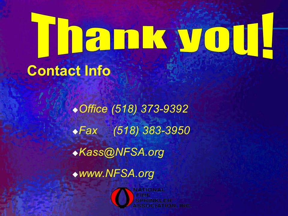 Contact Info Office (518) 373-9392 Fax (518) 383-3950 Kass@NFSA.org www.NFSA.org