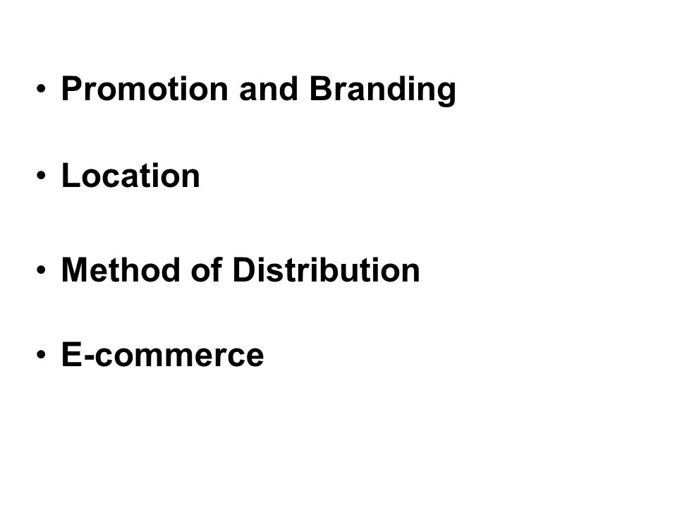 Promotion and Branding Location Method of Distribution E-commerce