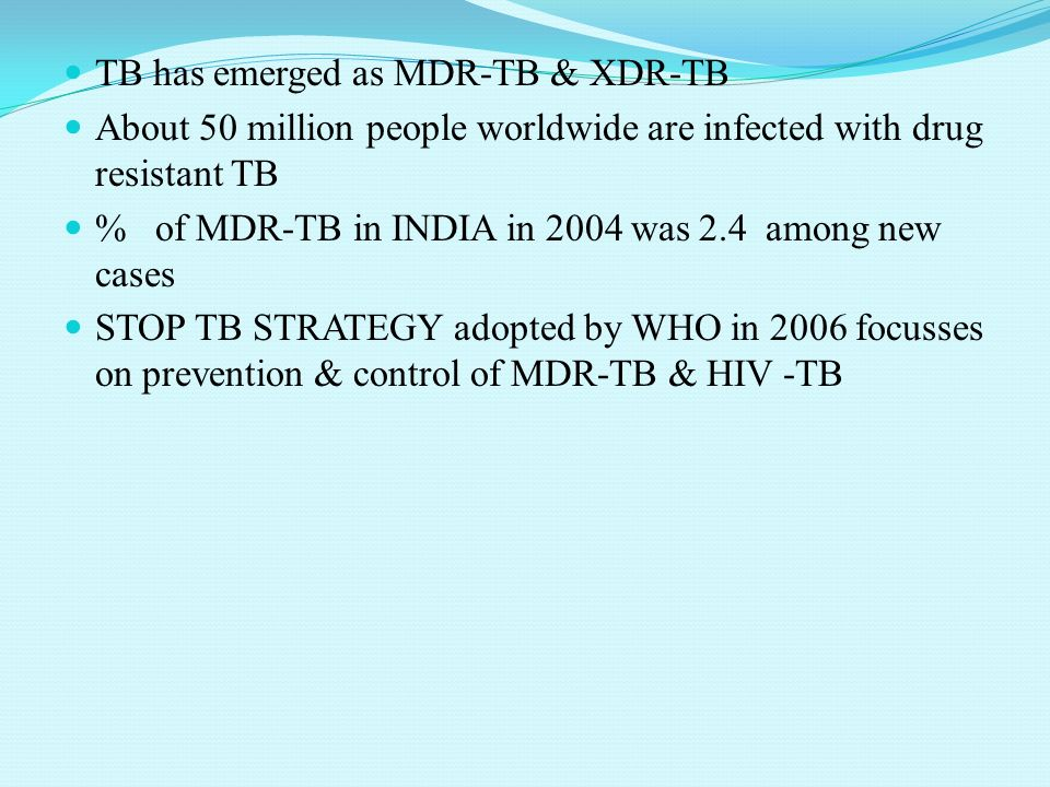 Tuberculosis Present situation SEAR with 5million cases, has the highest number of TB cases among all WHO regions. Bangladesh, India, Indonesia, Myanm