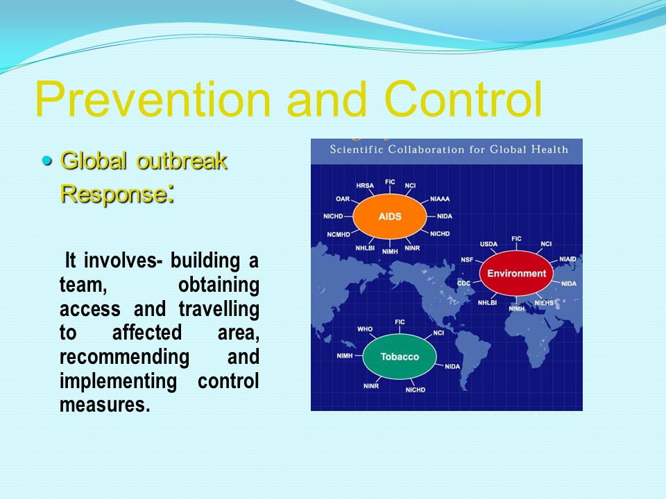 Strengthen public health infrastructures to support surveillance, response, and research. To implement prevention and control programs. Provide the pu