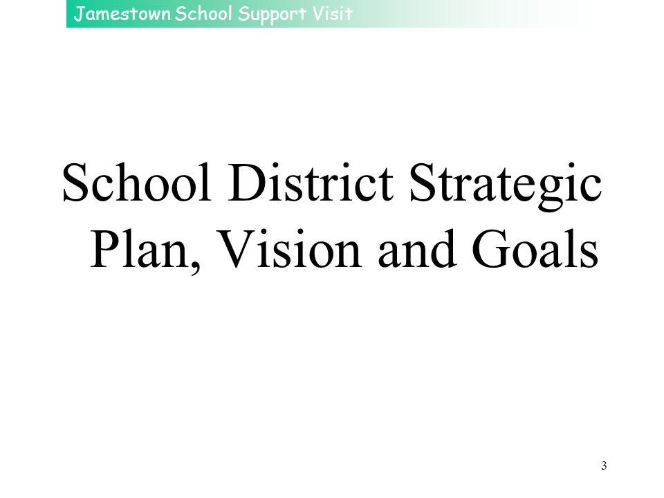 Jamestown School Support Visit 3 School District Strategic Plan, Vision and Goals