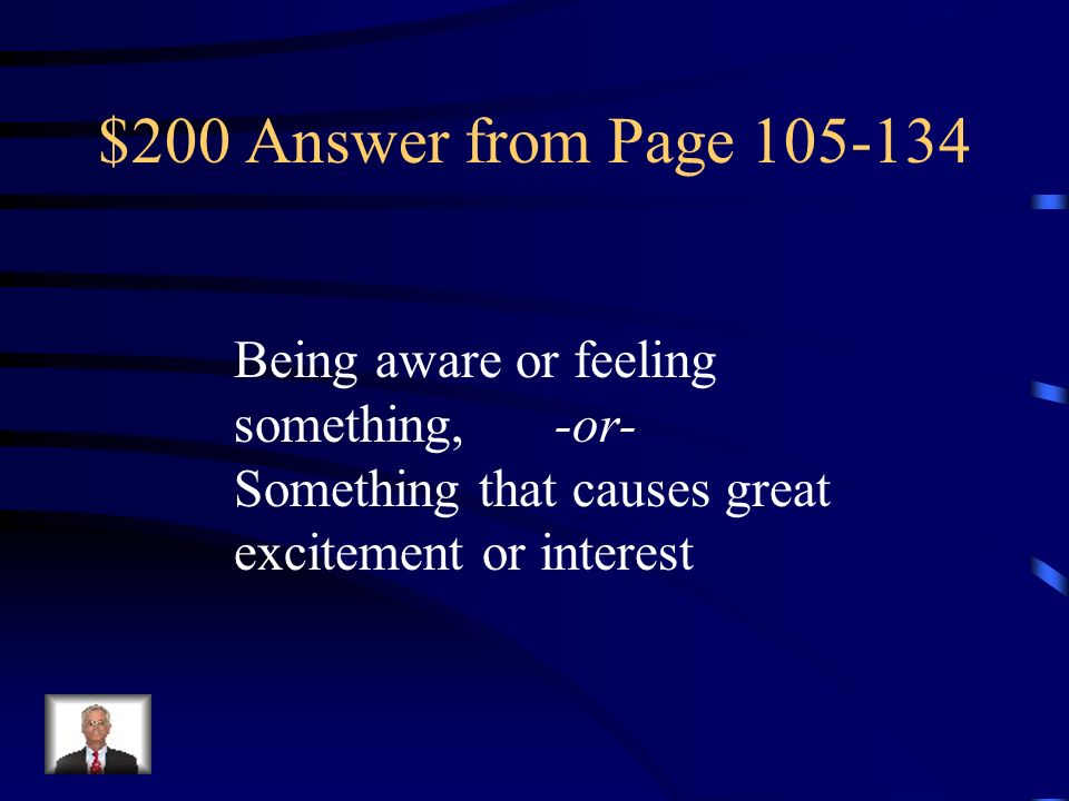 $200 Question from Page 105-134 sensation