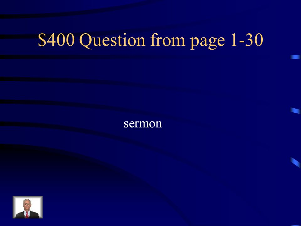 $300 Answer from page 1-30 Having good luck or being lucky