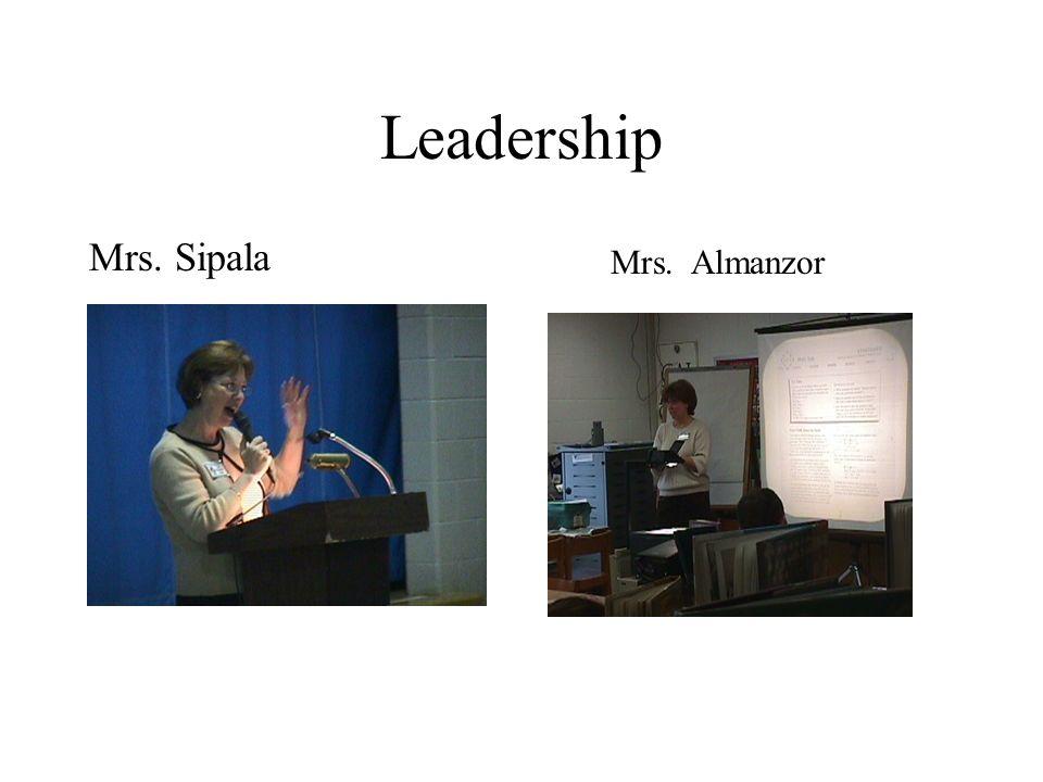 Leadership Mrs. Sipala Mrs. Almanzor
