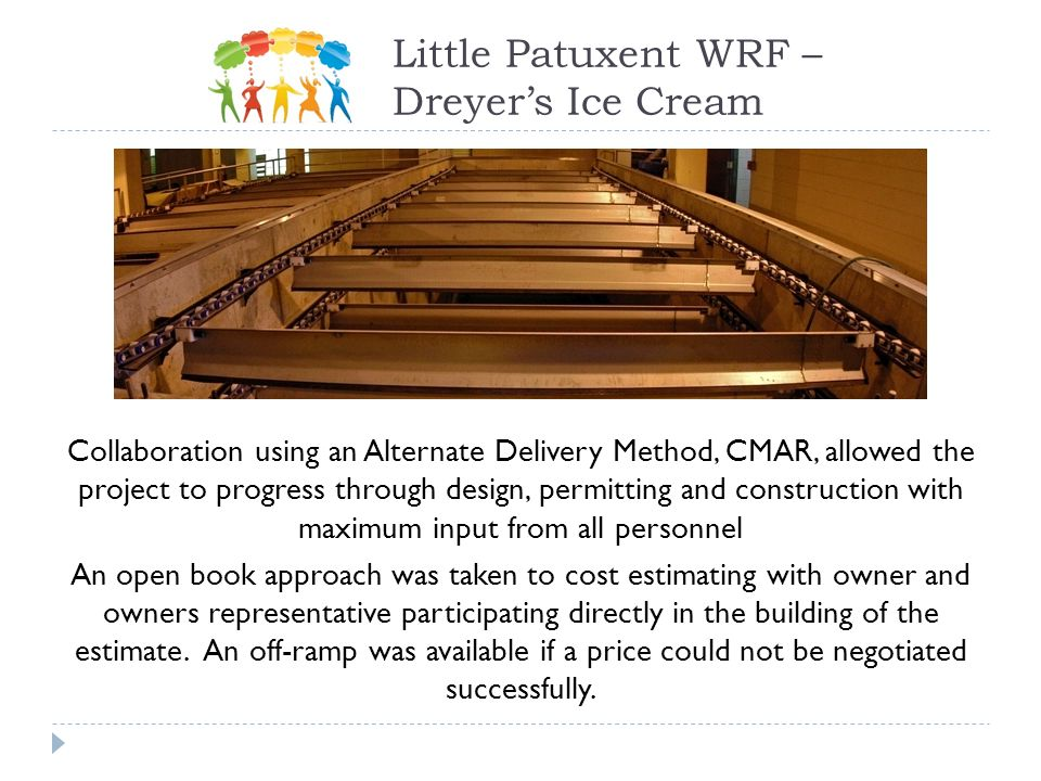 Collaboration using an Alternate Delivery Method, CMAR, allowed the project to progress through design, permitting and construction with maximum input