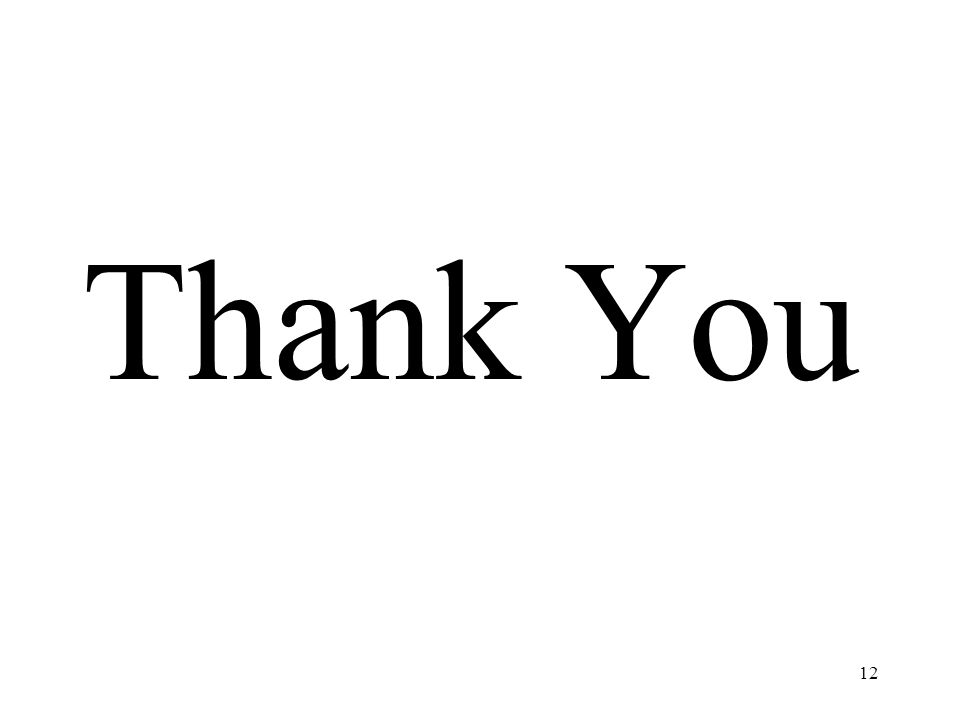 12 Thank You