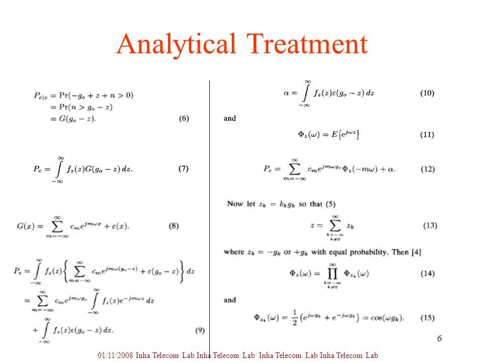 6 Analytical Treatment 01/11/2008 Inha Telecom Lab Inha Telecom Lab Inha Telecom Lab Inha Telecom Lab