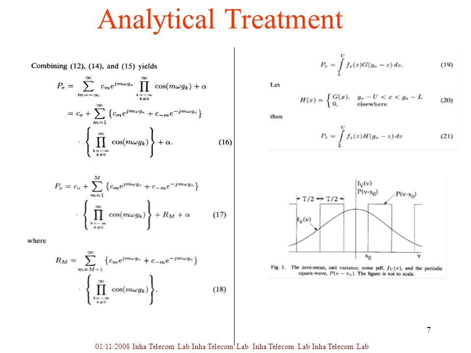 7 Analytical Treatment 01/11/2008 Inha Telecom Lab Inha Telecom Lab Inha Telecom Lab Inha Telecom Lab