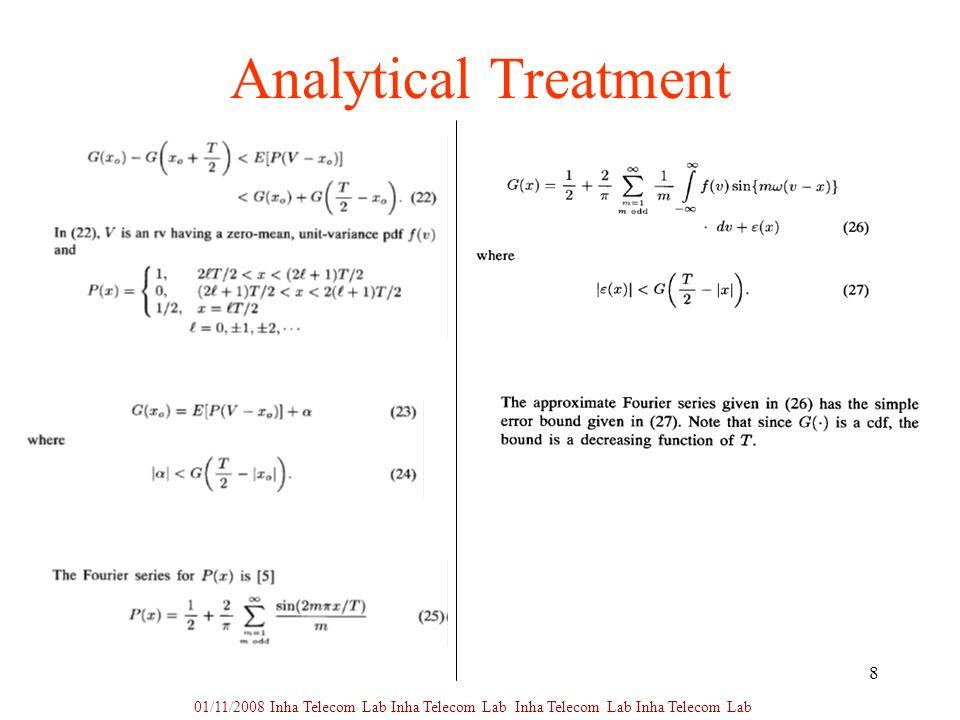 8 Analytical Treatment 01/11/2008 Inha Telecom Lab Inha Telecom Lab Inha Telecom Lab Inha Telecom Lab
