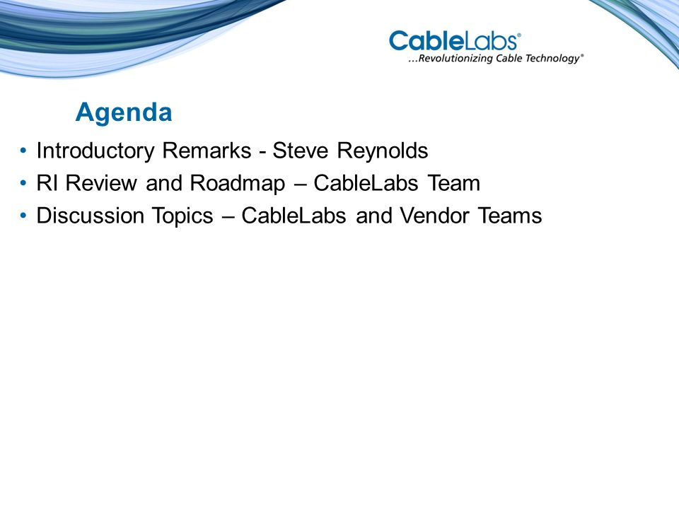State Variables (Client Side) Cable Television Laboratories, Inc.