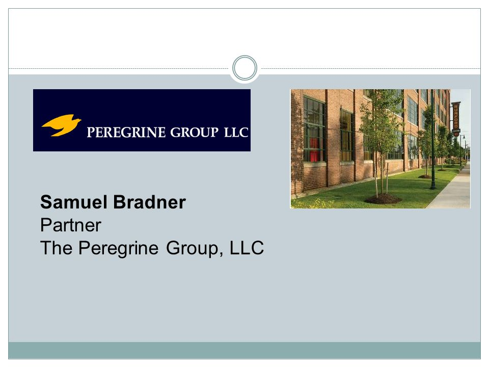 Samuel Bradner Partner The Peregrine Group, LLC