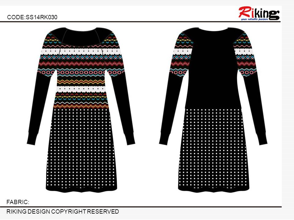 CODE:SS14RK030 RIKING DESIGN COPYRIGHT RESERVED FABRIC:
