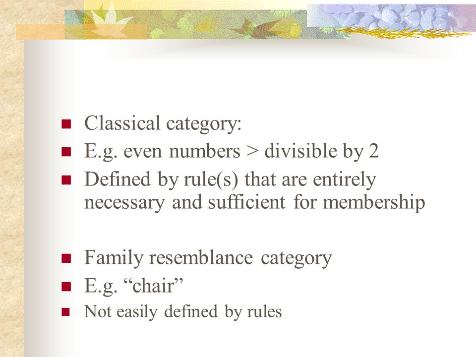 Yeah but….. What is a category