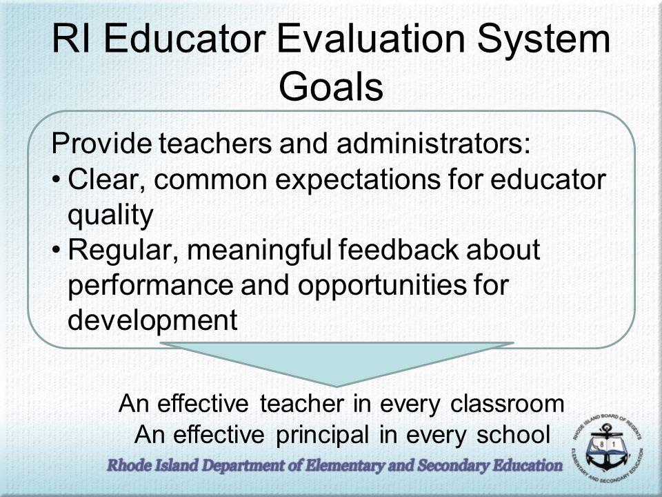 Evaluation System Standards 1/3/2014