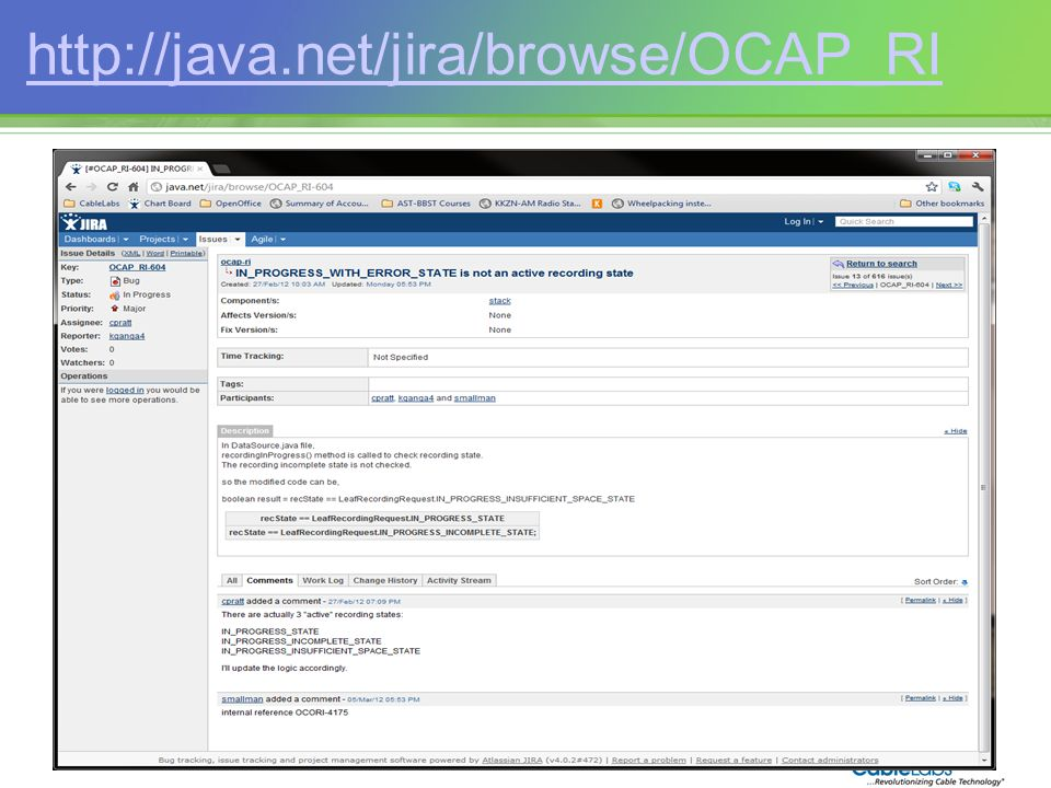 214 http://java.net/jira/browse/OCAP_RI
