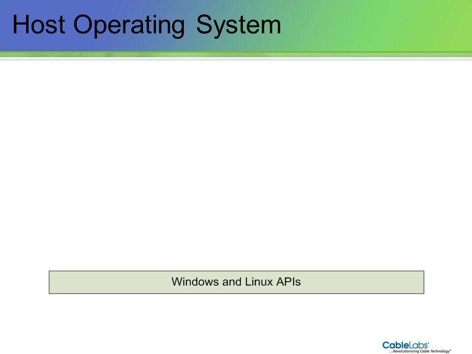 32 Host Operating System