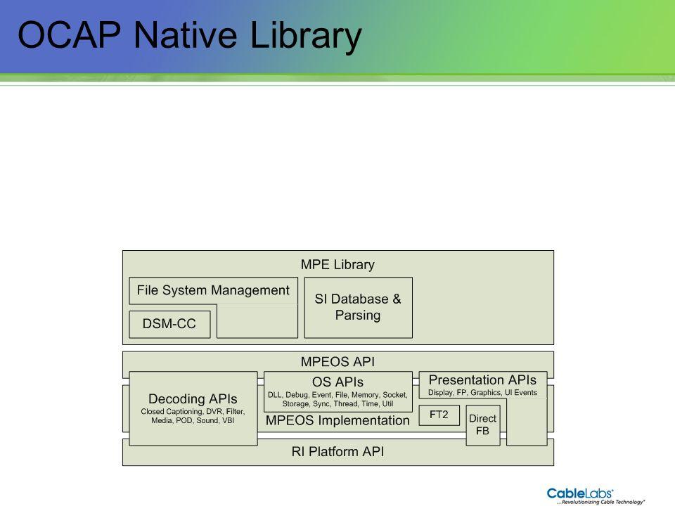 38 OCAP Native Library