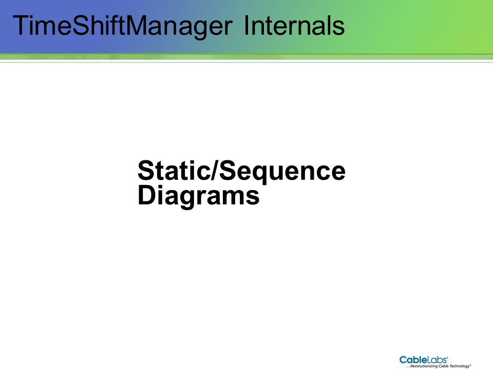 88 TimeShiftManager Internals Static/Sequence Diagrams
