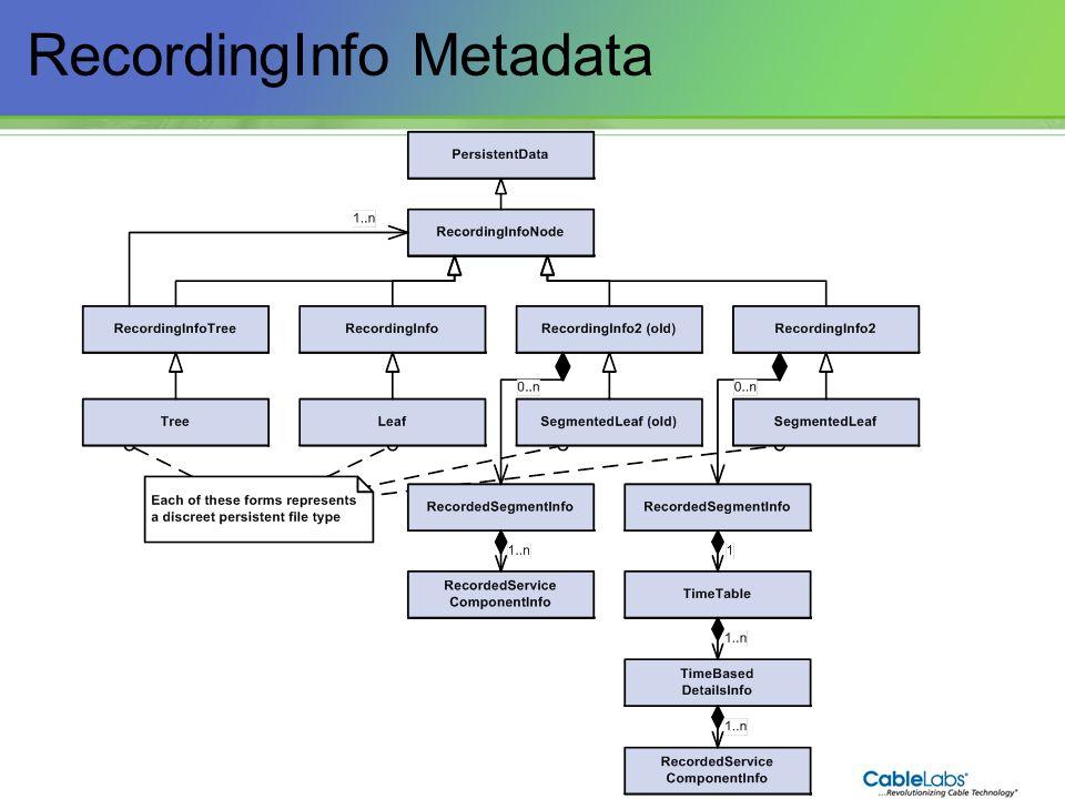 94 RecordingInfo Metadata
