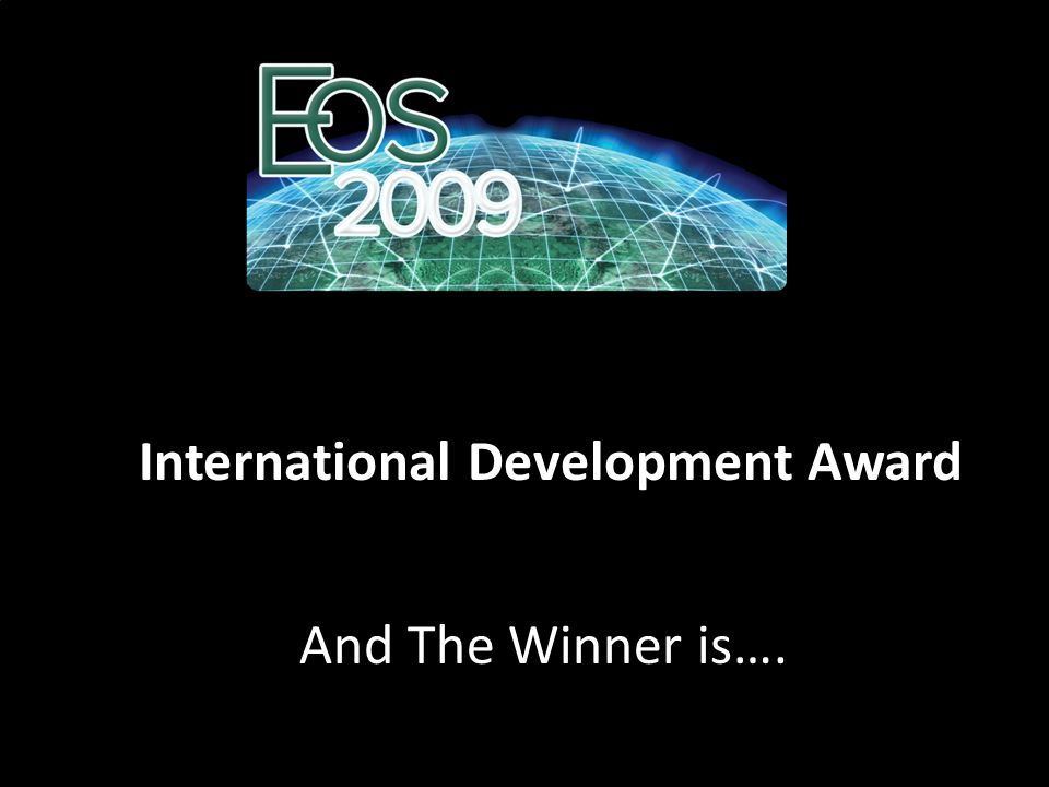 International Development Award And The Winner is….