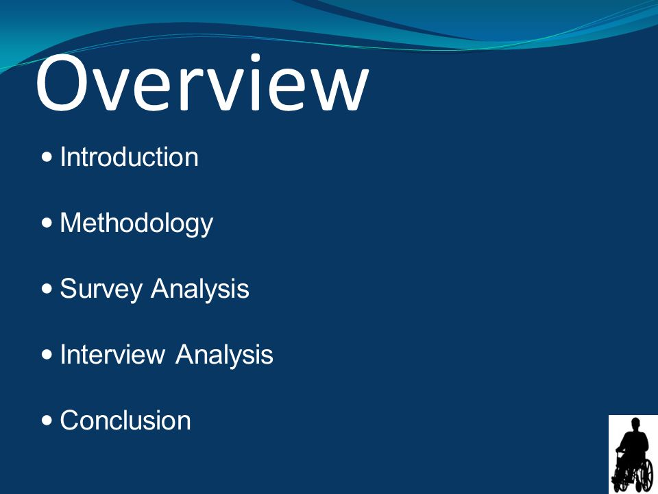 Overview Introduction Methodology Survey Analysis Interview Analysis Conclusion