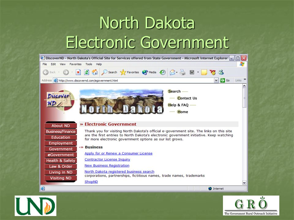North Dakota Electronic Government