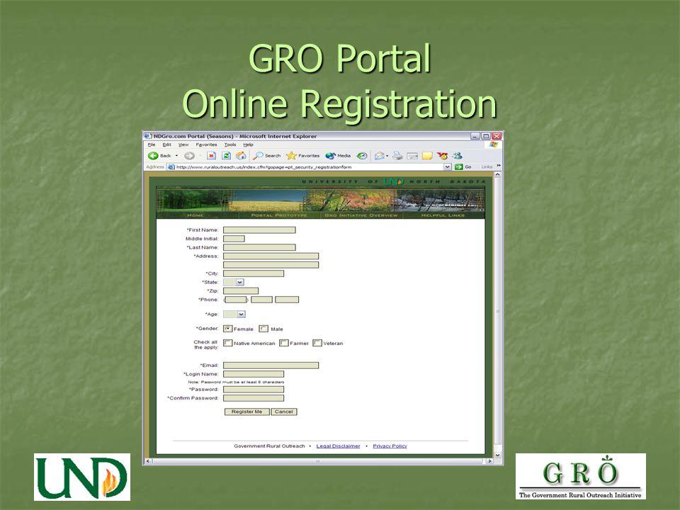 GRO Portal Online Registration