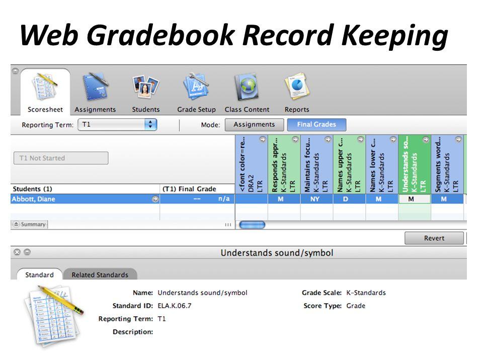 Web Gradebook Record Keeping
