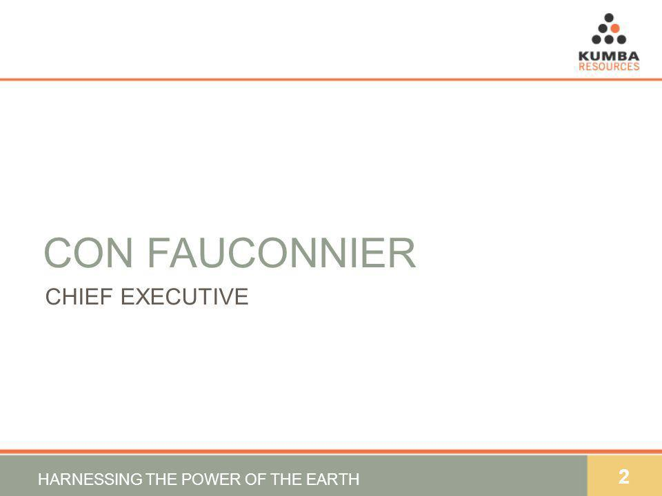 2 CON FAUCONNIER CHIEF EXECUTIVE HARNESSING THE POWER OF THE EARTH