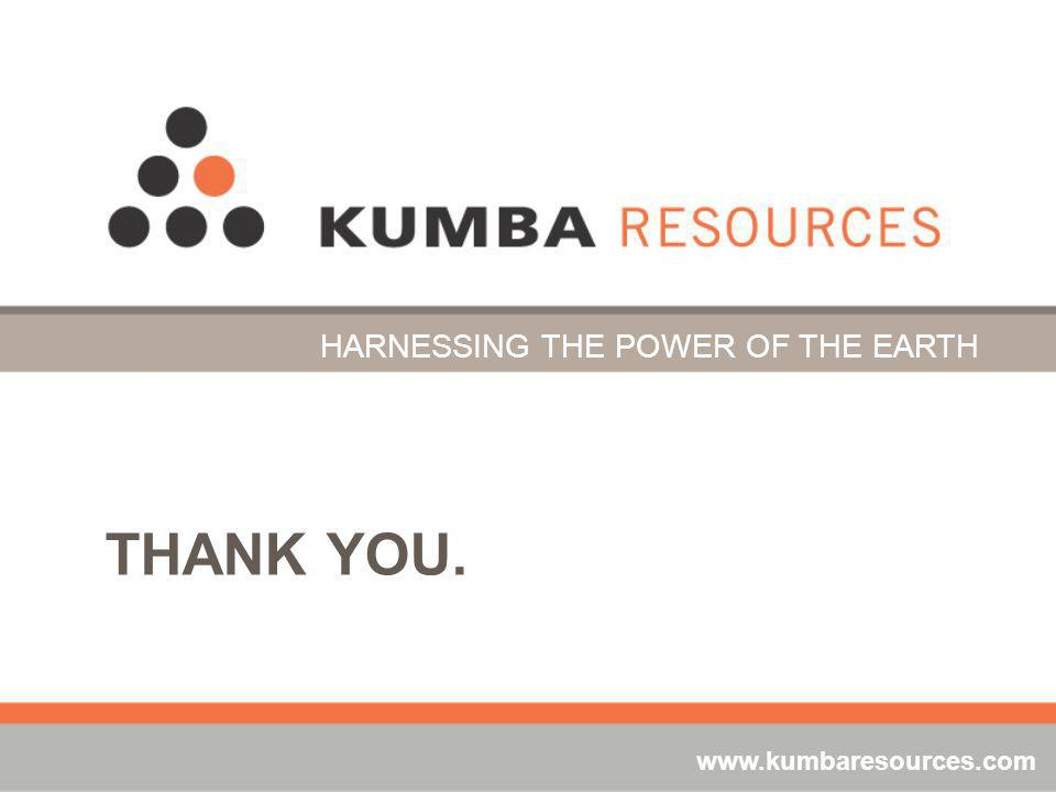 THANK YOU. HARNESSING THE POWER OF THE EARTH www.kumbaresources.com
