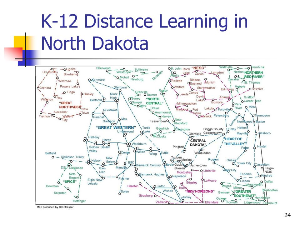 24 K-12 Distance Learning in North Dakota