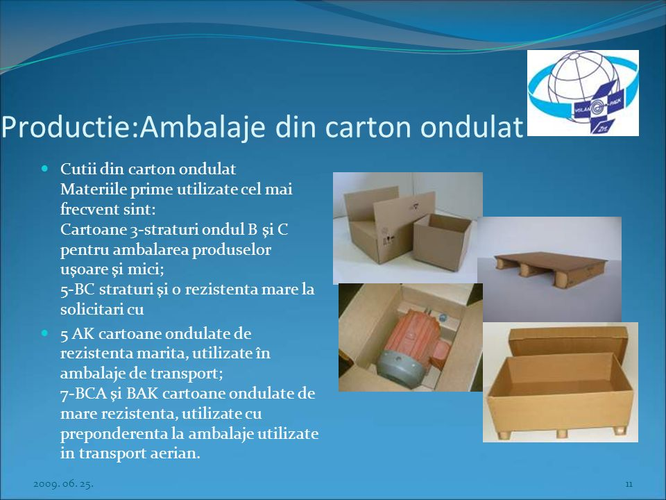 Production: cardboard-based packaging goods Cardboard-boxen The raw materials used most frequently include: 3-ply B and C corrugated cardboards for th