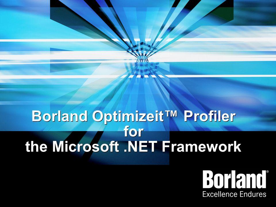 Borland Optimizeit Profiler for the Microsoft.NET Framework