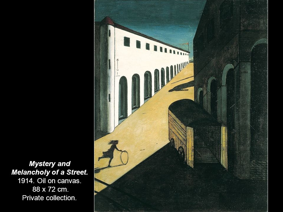 Mystery and Melancholy of a Street. 1914. Oil on canvas. 88 x 72 cm. Private collection.
